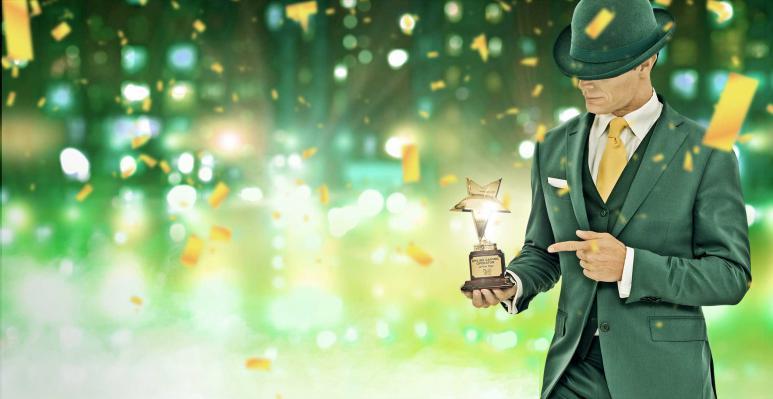 mr green casinon vihreä mies mainoskuvassa